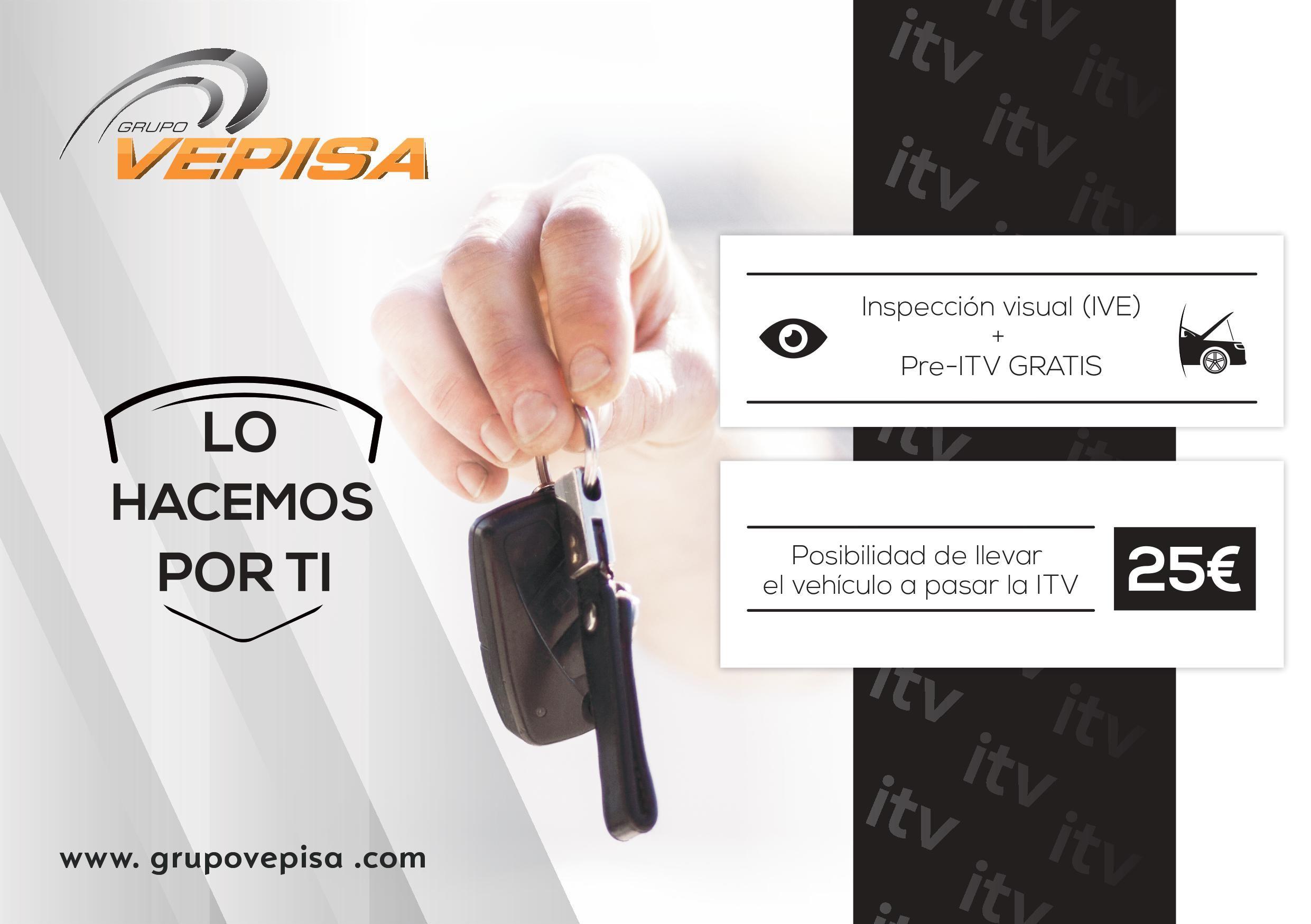 PRE ITV + INSPECCIÓN VISUAL DE 20 PUNTOS TOTALMENTE GRATIS