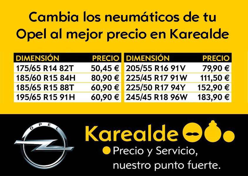 ¡Cambia tus neumáticos al mejor precio en Opel Karealde!