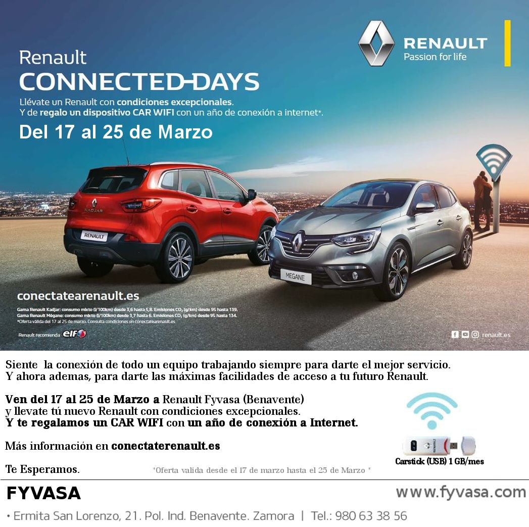Han llegado los Connected Days de Renault a Fyvasa