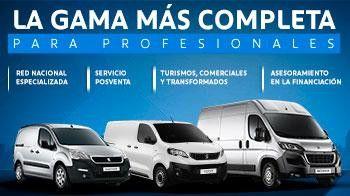 LA GAMA MÁS COMPLETA PARA PROFESIONALES (Red Nacional especializada, Servicio Posventa, Turismos, Comerciales y Transformados, Asesoramiento en la Financiación)