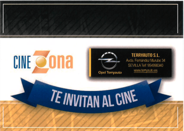 Opel Terryauto te lleva al cine totalmente gratis