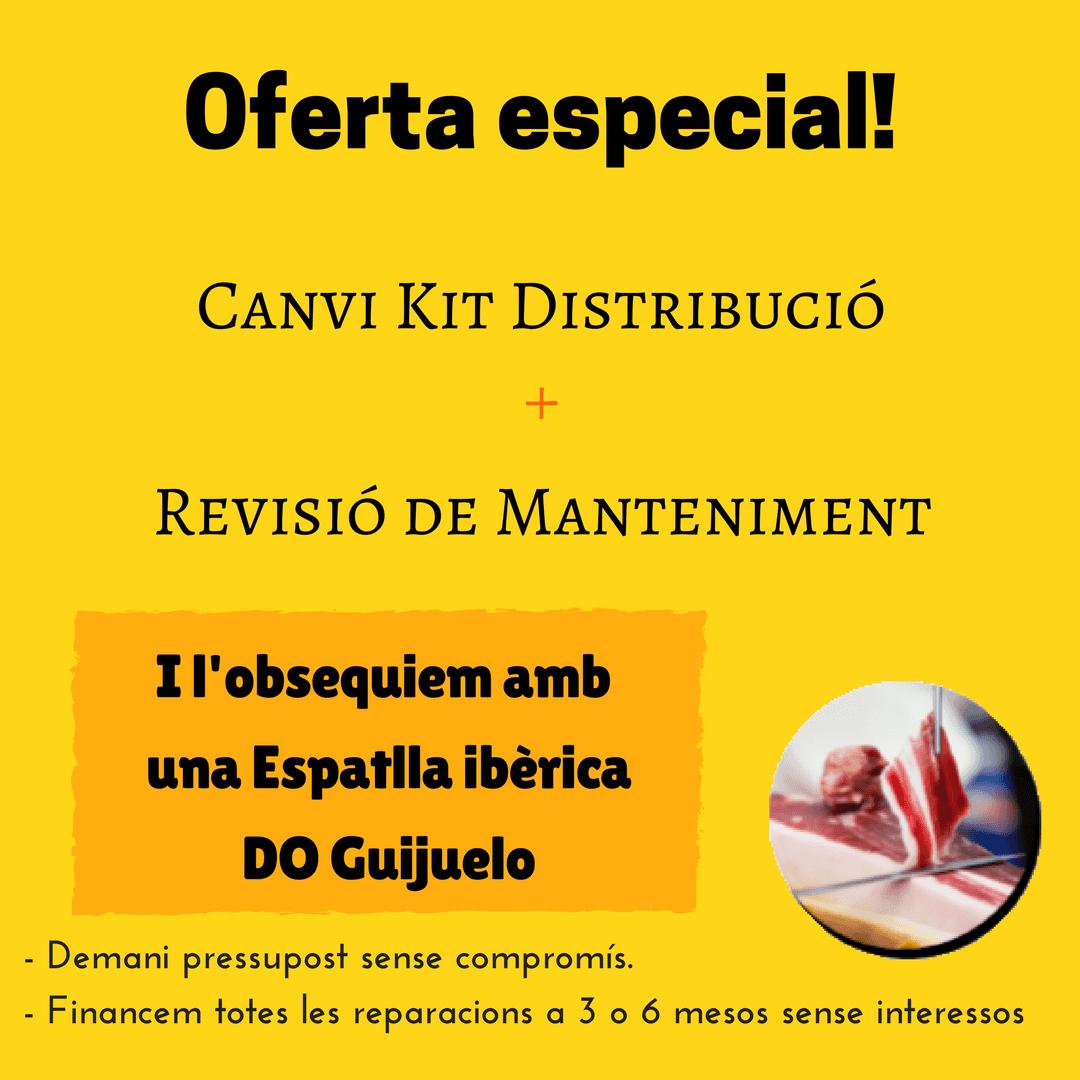 Oferta canvi corretja de distribució + revisió de manteniment = espatlla ibèrica DO Guijuelo