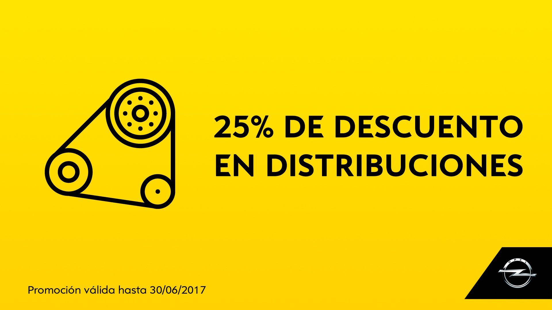 25% DE DESCUENTO EN DISTRIBUCIONES