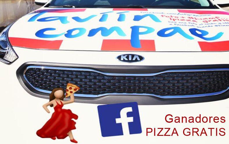 Ganadores de PIZZA GRATIS en PIZZAMETRO