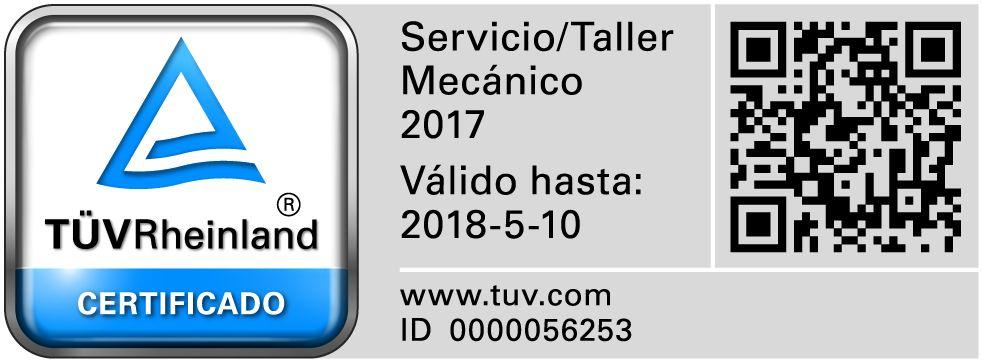 Renovación Certificación Tüv Rheiland