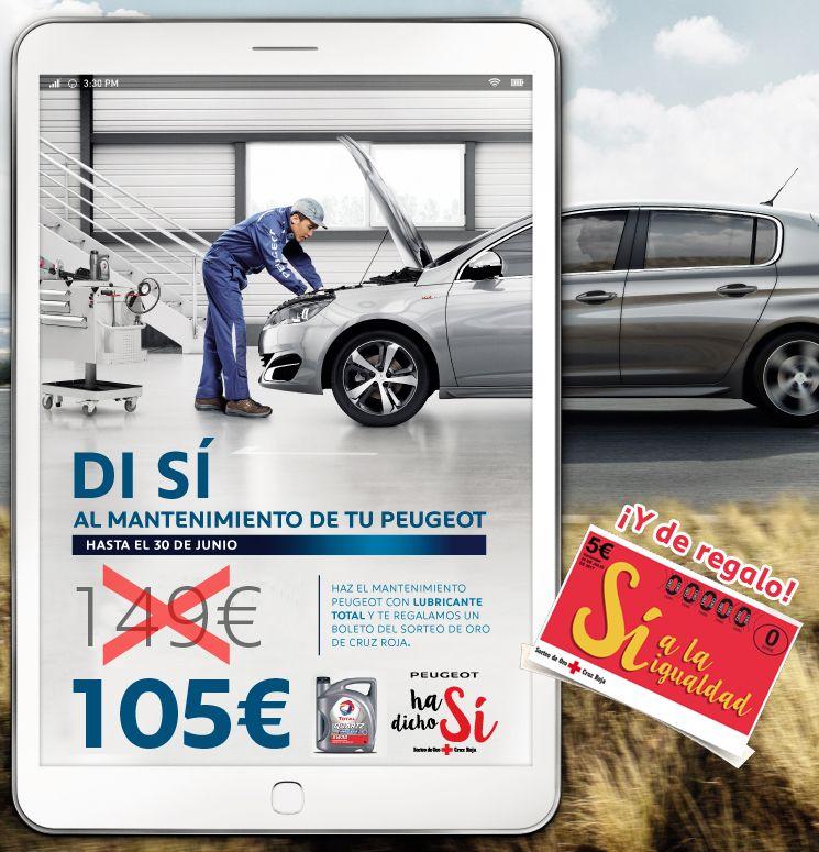 Mantenimiento anual Peugeot por 105€