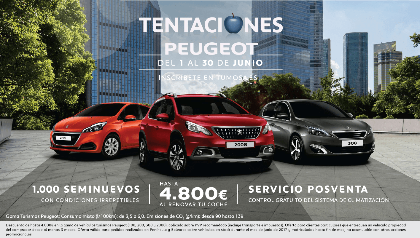 """Aprovecha en Tumosa las """"Tentaciones Peugeot"""""""