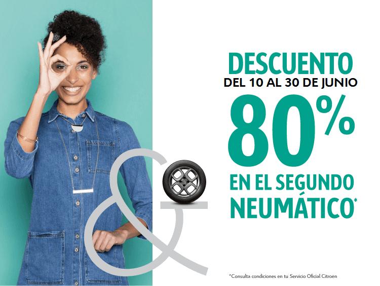 Prepárate para el verano, 80% de descuento en neumáticos
