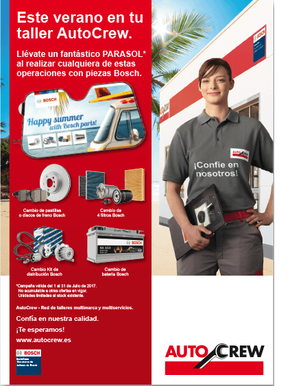 Campaña Verano AutoCrew Bosch