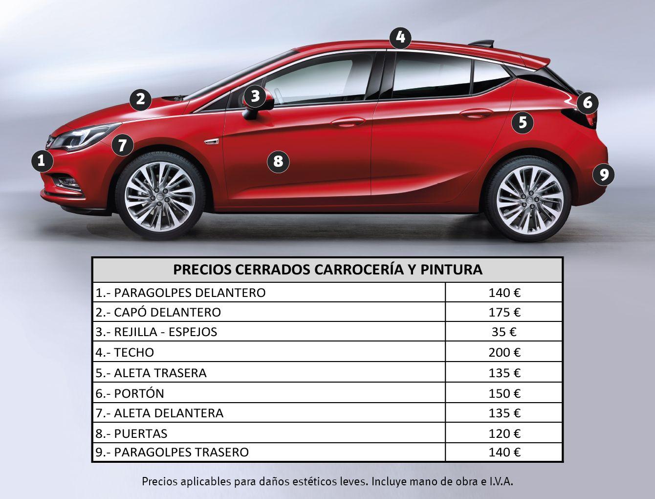 Nuevos precios en chapa pintura para mantener tu coche como el primer día