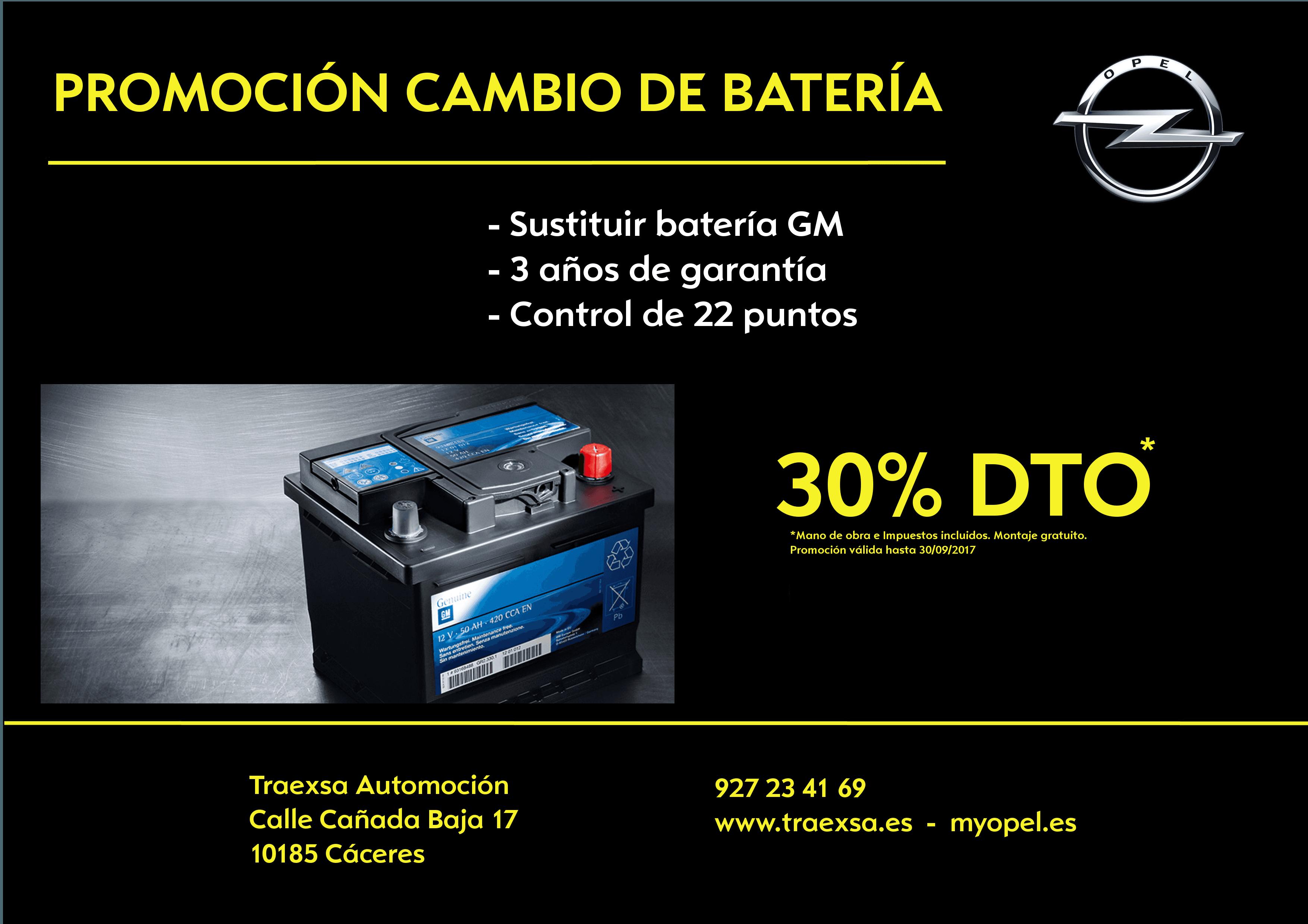 ¡OFERTA! Sustitución de batería GM (incluye 3 años de garantía)