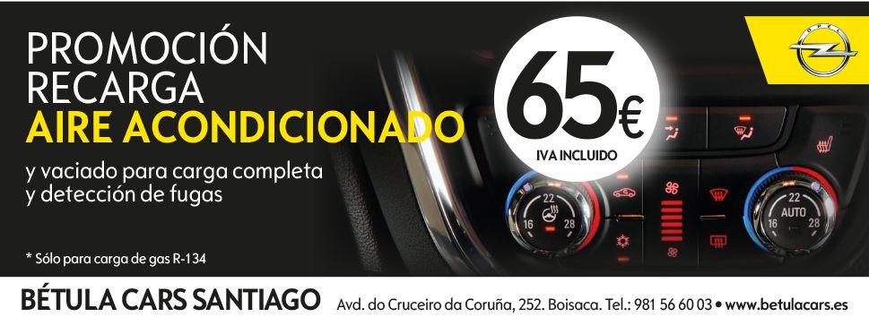 PROMOCION RECARGA AIRE ACONDICIONADO POR 65€ (SOLO GAS R-134)