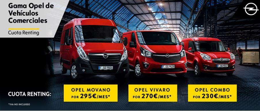 ¡Conduce tu Vehículo comercial Opel con todos los servicios incluidos!