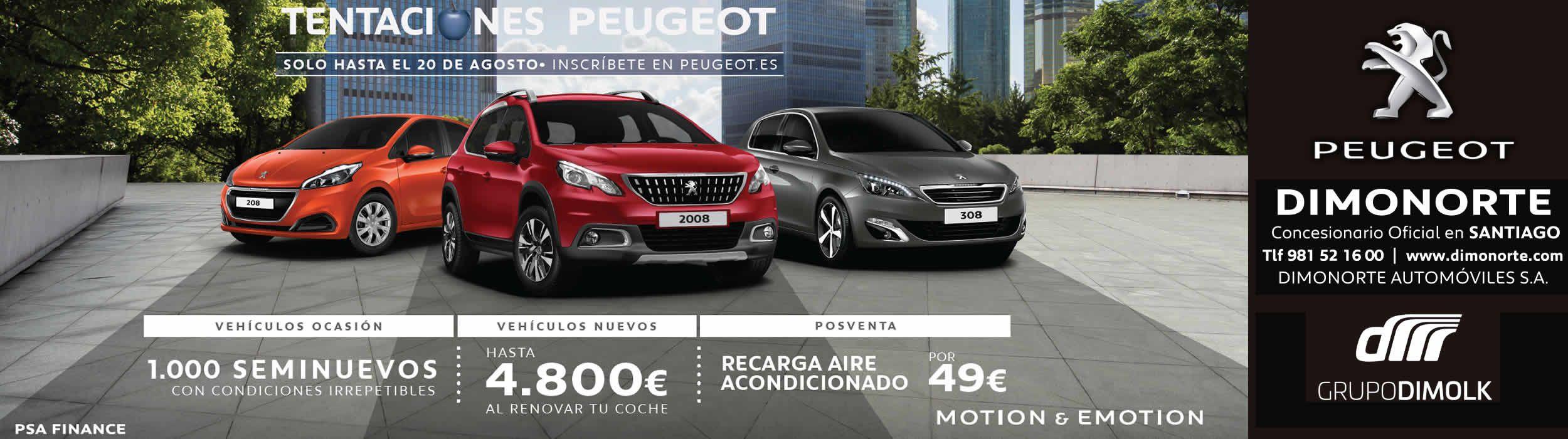 Tentaciones Peugeot Dimonorte