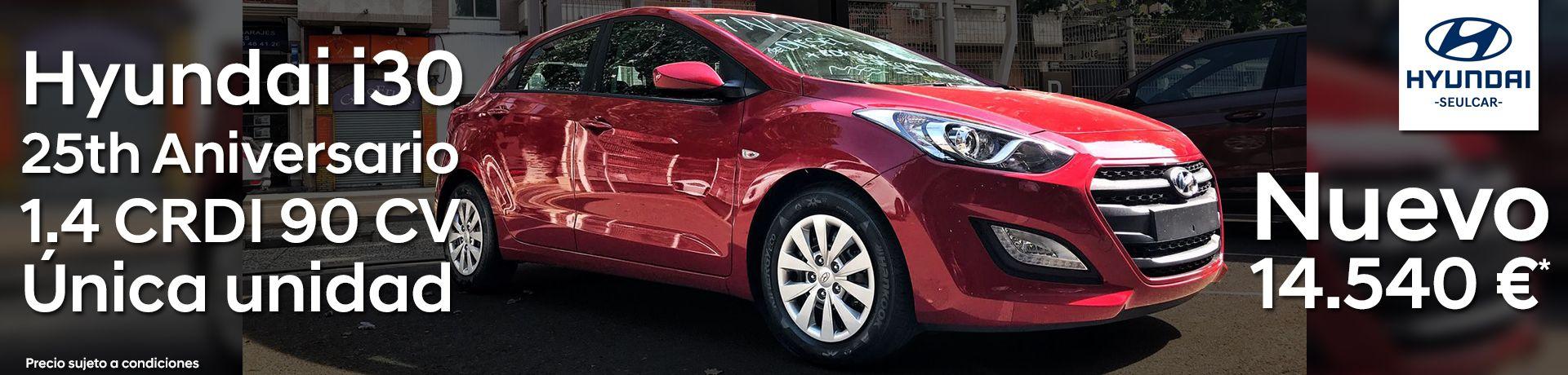 Única unidad Hyundai i30 25 Aniversario