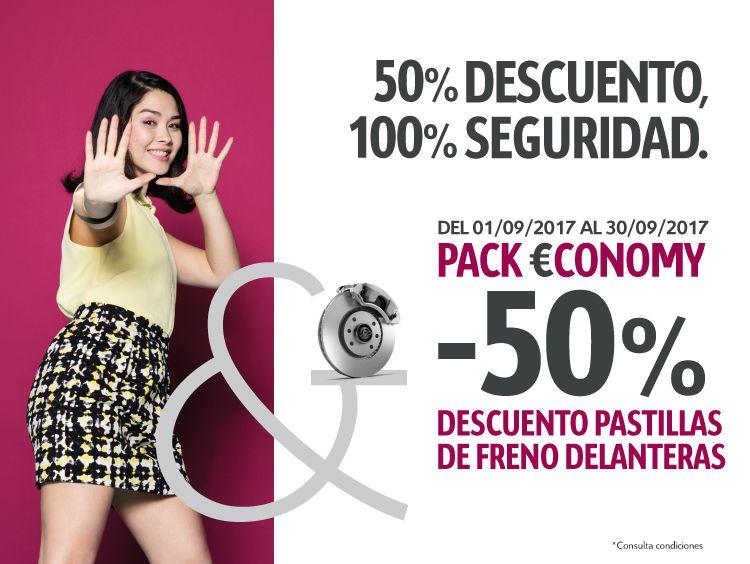 VUELVE  EL 50% DE DESCUENTO EN TUS PASTILLAS DE FRENO