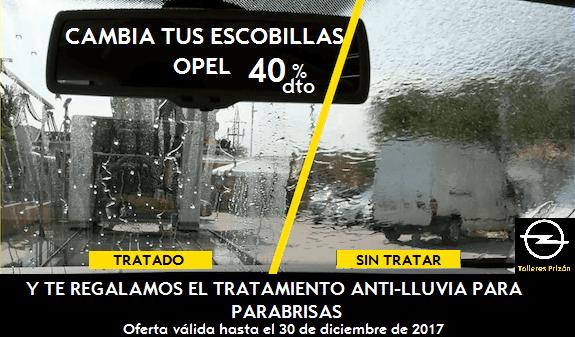 OFERTA ESCOBILLAS OPEL 40% dto