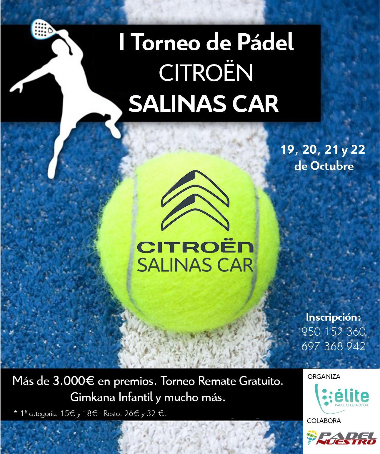 Nace el I Torneo de Pádel Indoor Citroën Salinas Car